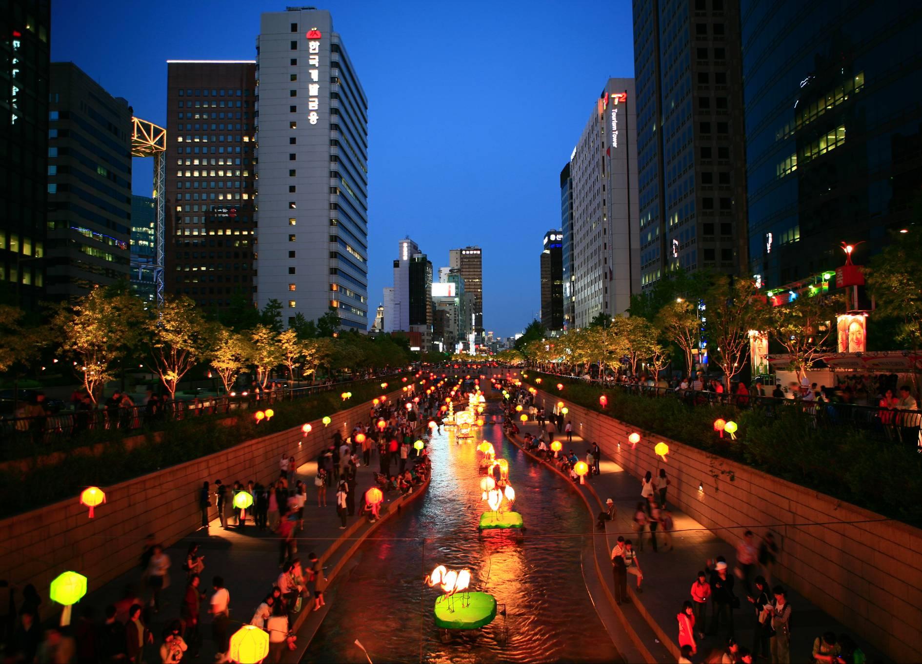 nightlife seoul korea .